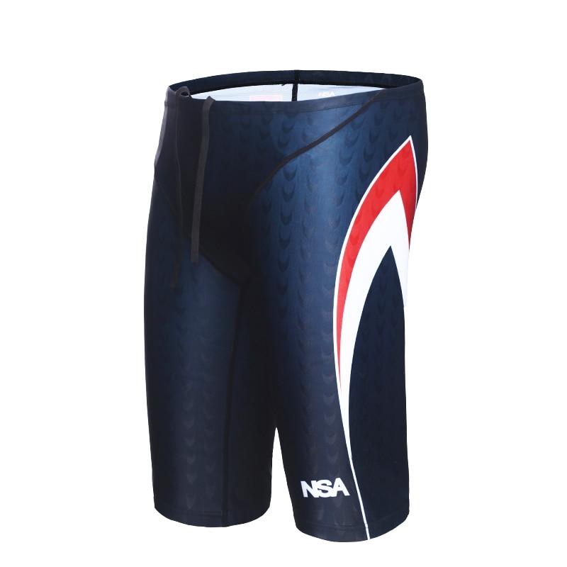 1ff4d91e61c8 NSA Men Professional Swimming Briefs Sharkskin Underwear Trunks Swimwear  Plus Size 5XL Bathing Suit Mens Swimsuit Beachwear -in Body Suits from  Sports ...