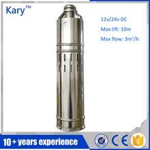 Kary 12 вольт 10 м лифт DC солнечной водяной насос погружной, 3 дюйм(ов) диаметр мини электрический солнечный водяной насос для сельского хозяйства