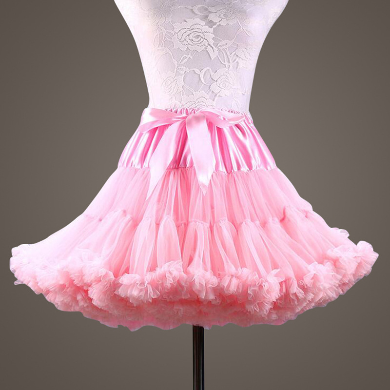 New Puffy Pink Purple Ball Gown Underskirt Swing Short Dress Petticoat Cosplay Petticoat Ballet Tutu Skirt Rockabilly Crinoline
