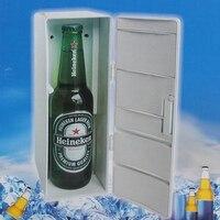 Mini portátil Frigorífico Latas de Bebidas Cooler/Warmer Frigorífico Frigorífico Poder para Laptop PC USB Gadgets USB Refrigerador Frigorífico