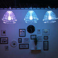 Thrisdar Outdoor LED Fiber Optic Jellyfish lantern Lamp Holiday Wedding Garden Party Optic Fiber Christmas Fairy String Light