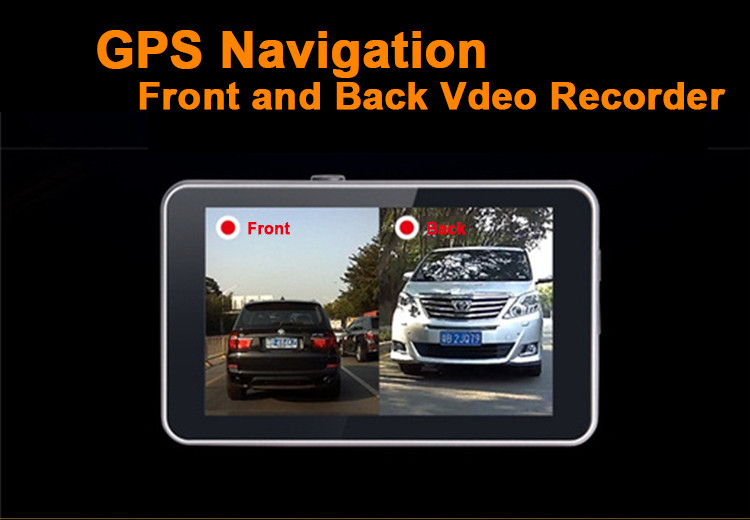 Android Car DVR Camcorder dual lens dash cam drive camera GPS Navigation video recorder Full hd 1080p auto registrator dvr wifi 2