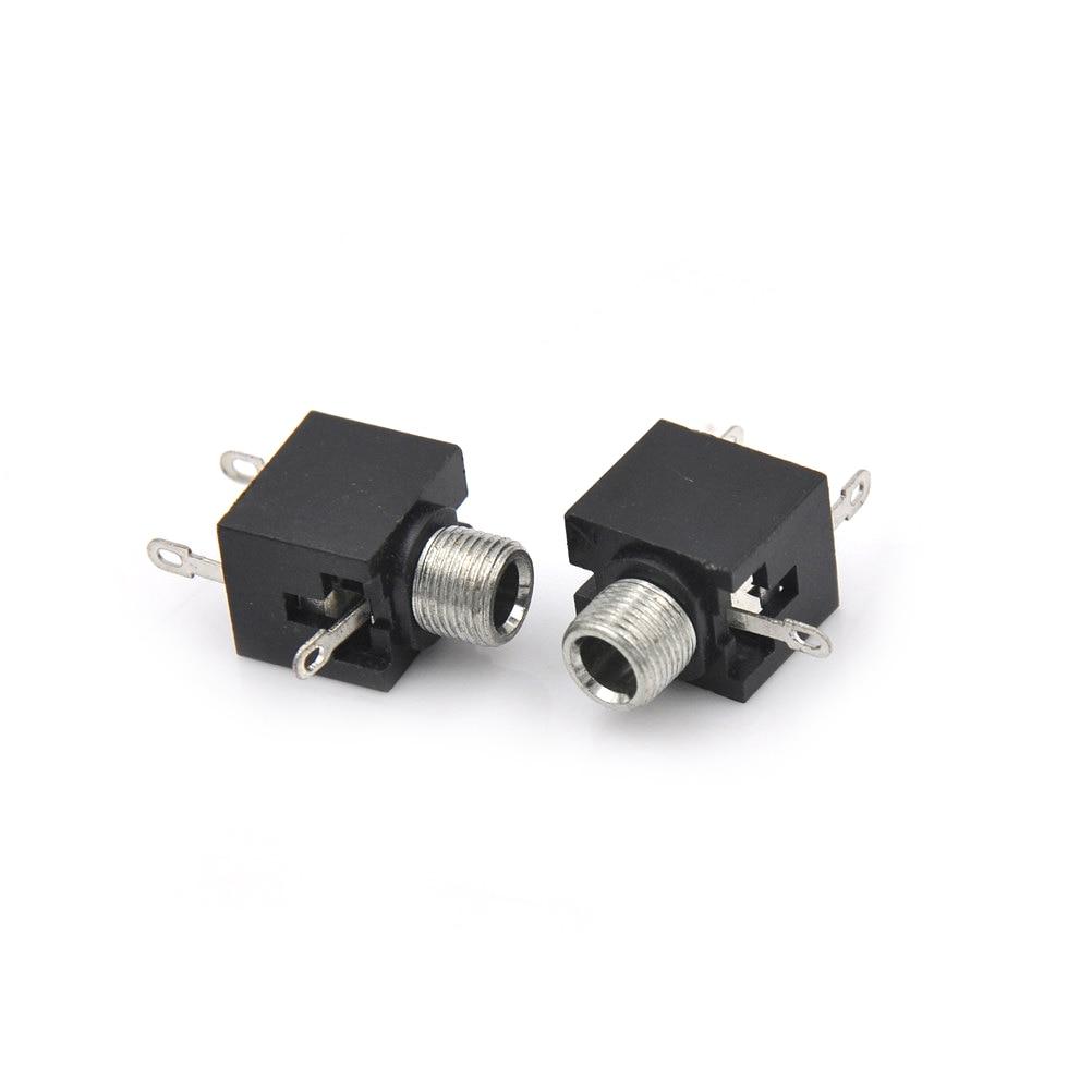 5pcs/lot 3.5mm Female Audio Connector 3 Pin DIP Headphone Jack Socket Mono Channel Double Track Socket Stereo Socket