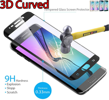 3D Full Curved Tempered Glass SM G925F SM G928F G928G Screen Protector Glass Flim For font