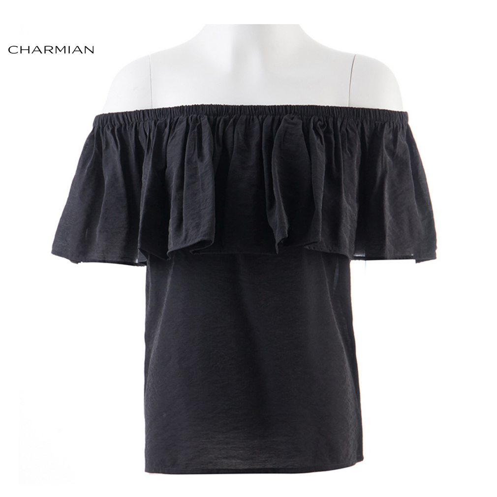 cf3446be8f093 Charmian Off Shoulder Casual Top Vintage Gothic Victorian Blouse Ruffles Lolita  Top Steampunk Women Clothing-in Blouses   Shirts from Women s Clothing on  ...