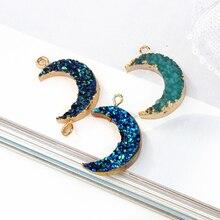 Resin Pendant Bracelet Charms Hanging-Accessory Moon Findings Diy Earring Dangler Trendy