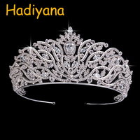 Hadiyana Shining AAA Zircon Crown Jewelry Accessories Fairy Headdress Crowns Girls Princess Party Celebration Hair Tiaras BC3616