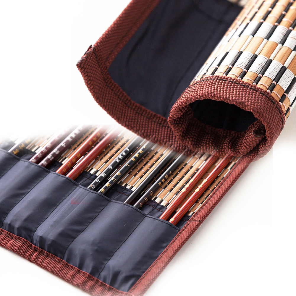 Soft Roll Pen Holder Portable Calligraphy Bamboo Without Brush Pack Pen Case Storage Bag Moisture Proof Pencil Rolling Bag