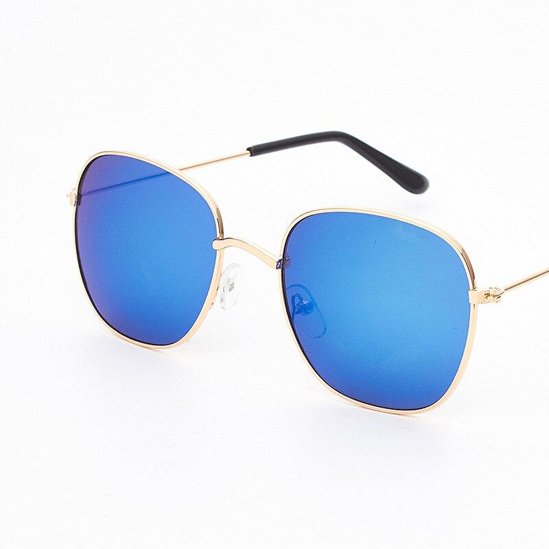 KRMDING New Square Sunglasses kids Metla Frame Children UV400 Outdoor Glasses for Boys and Girls