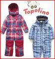 Topolino 9M-5years velho Baby & kids Inverno Quente terno de esqui snowsuit Romper espessamento de algodão-acolchoado casacos e jaquetas para crianças