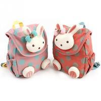 новый высокое качество анти-потерянный для маленьких детей милые 3д кролик точка рюкзак для девочек ранцы детский сад игрушки сумка закуски пакет