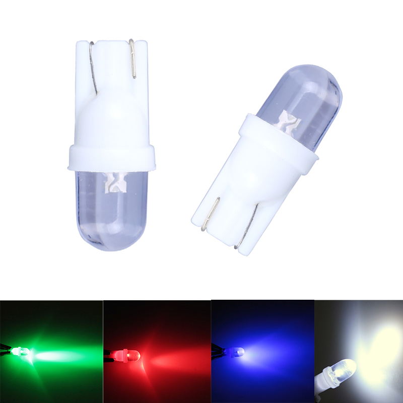 10pcs/lot White T10 W5W 168 194 Car LED Bulb Car Side Wedge Dashboard Light Interior Auto Lamps Parking Blue Red Car Styling new 2x xenon white led error free canbus 6smd side wedge light bulb t10 194 168 w5w