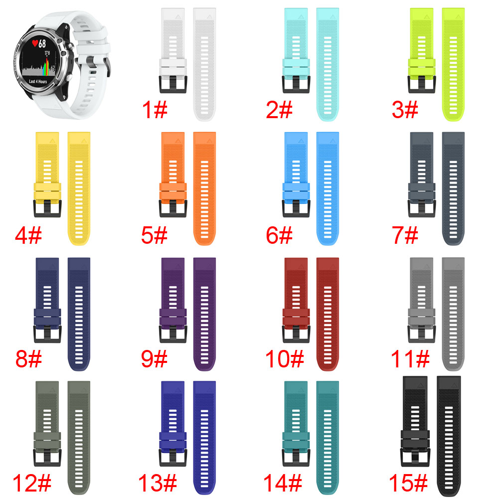 New Quick Release Easy Fit Silicone Replacement Watch Band for 26mm Garmin D2 Charlie/Descent Mk1 @JH