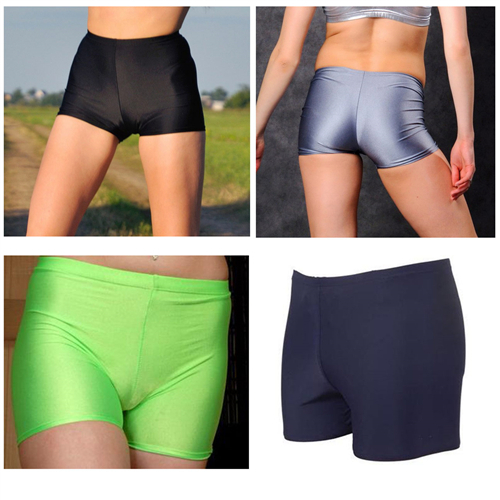 High Quality Shiny Lycra Yoga Shorts Rhythmic Shorts