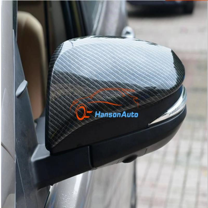 Carbon Fiber Door Mirror Cover Trim abs Chrome Rearview Mirror Covers Styling for Toyota rav4 2016 2017 Accessories Car Sticker