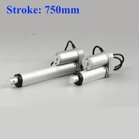 Electric Linear actuator 750mm Stroke linear motor controller dc 12V 24V 200/350/400/600/700/750N