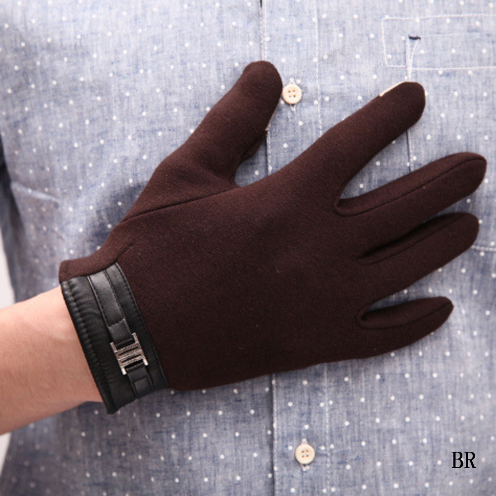 High Quality New Winter Business Men Leather Screen Gloves Men's Winter Gloves