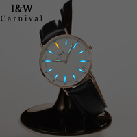 I&W T25 Tritium Luminous Watch Women Carnival Ladies Watches Top Brand Luxury Waterproof Ultra Thin Wristwatch relogio feminino