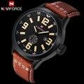 Nova Moda de Luxo Da Marca NAVIFORCE Homens Sports Relógios Quartz Hora de Relógio dos homens do Sexo Masculino Casual Couro Relógio de Pulso relogio masculino