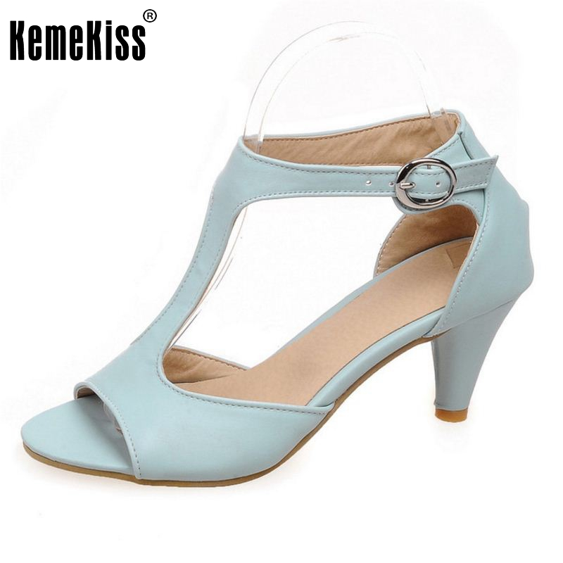 цены  Fashion Party High Heel Shoes Woman Sexy Peep Toe Thin Heels Summer Sandal Ankle Strap Sandals Women Shoes Size 34-43 PA00517