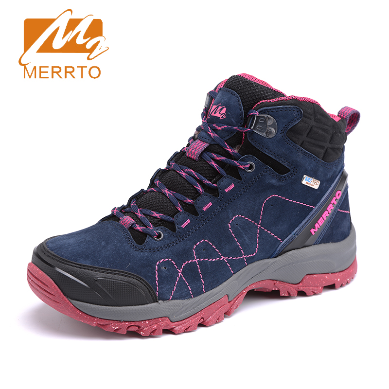 2018 Merrto Womens Hiking Boots Breathable Outdoor Sport Shoes Waterproof Climbing Camping Shoes For Women Free Shipping MT18637