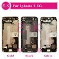 Ouro prata preto ouro rosa novo completo para iphone 5 5g completa Tampa da caixa Quadro Do Meio Assembléia Flex Cable Livre Personalizado IMEI