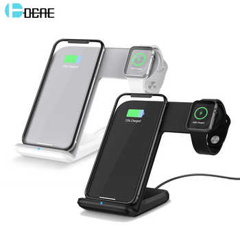 DCAE 2 in 1 Wireless Charger for apple i watch 1 2 3 4 5 USB C Fast Wireless Charging for iphone 11 XS MAX XR X 8 Samsung S10 S9 - DISCOUNT ITEM  45% OFF All Category