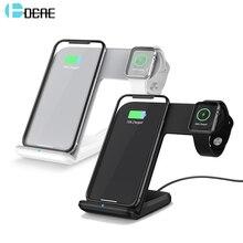 DCAE için 2si 1 kablosuz şarj cihazı apple i watch 1 2 3 4 5 USB C hızlı kablosuz şarj için iphone 11 XS MAX XR X 8 Samsung S10 S9