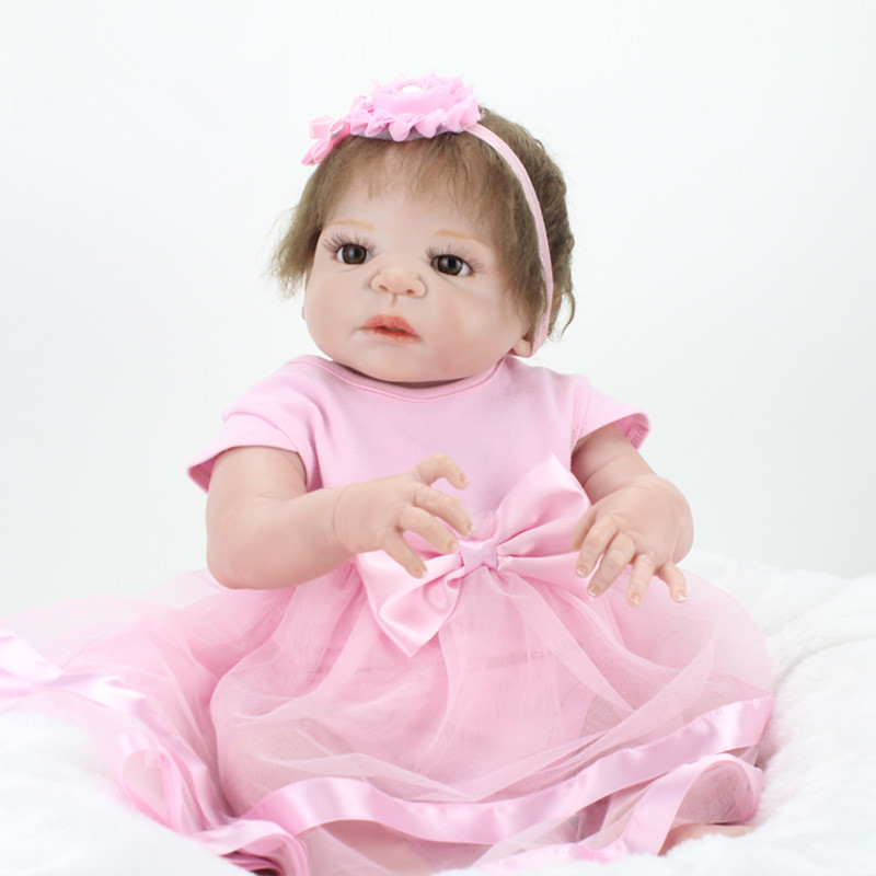 Wholesale hot style 55cm 223939 full full silicone reborn baby doll doll for Best reborn baby dolls