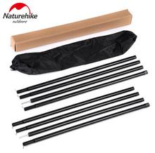 NatureHike 2*2m Black Reinforced Tent Pole 4 Sections Per Sherardized Steel Rod for Awning Tar Tarpaulin Outdoor