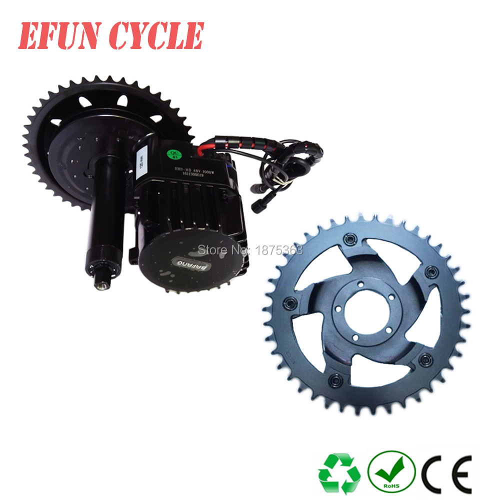 Free shipping 42T chain wheel Bafang BBSHD 48V 1000W Ebike Electric bike Motor 8FUN mid drive conversion kit with C965 display conhismotor color screen 36 48v bafang 850c color display usb port for ebike mid drive motor kit genuine 8fun bbs01 bbs02 bbshd