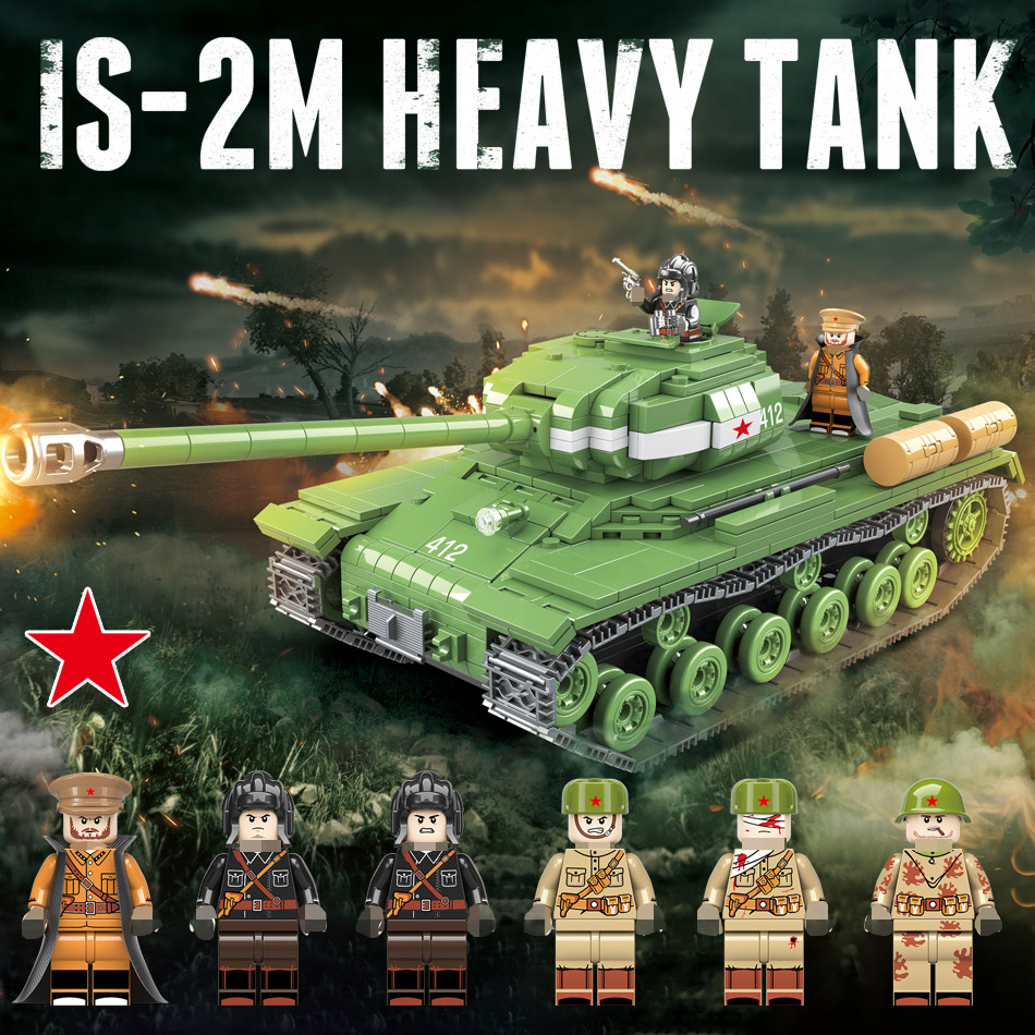 818 PCS Military Soviet Russia KV 2 Tank Building Blocks Compatible Legoing City WW2 Soldier Police Weapon Bricks Toys for Boys(China)