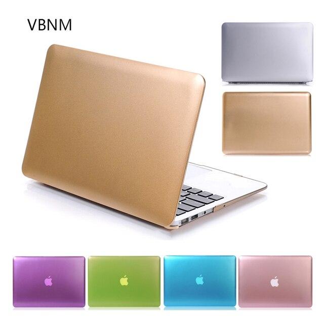 VBNM Champán Oro Color Del Metal Caso para el Aire de Macbook Pro ...