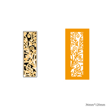 AZSG Floral background Cutting Dies For DIY Scrapbooking Decorative Card making Craft Fun Decoration 3.6*12cm azsg cute girl cutting dies for diy scrapbooking decorative card making craft fun decoration 9 8 9 2cm