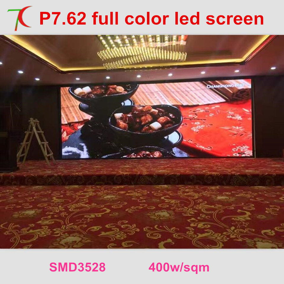 Free Installation Method of P7.62 full color led video wall for meeting room,multi-media classroom ...