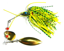 2017 HOT NEW 17.4G Spinner fishing Tackle Metal Fishing Lure Spinnerbait Wobbler fishing hook rubber jig lure Silicone Skirt