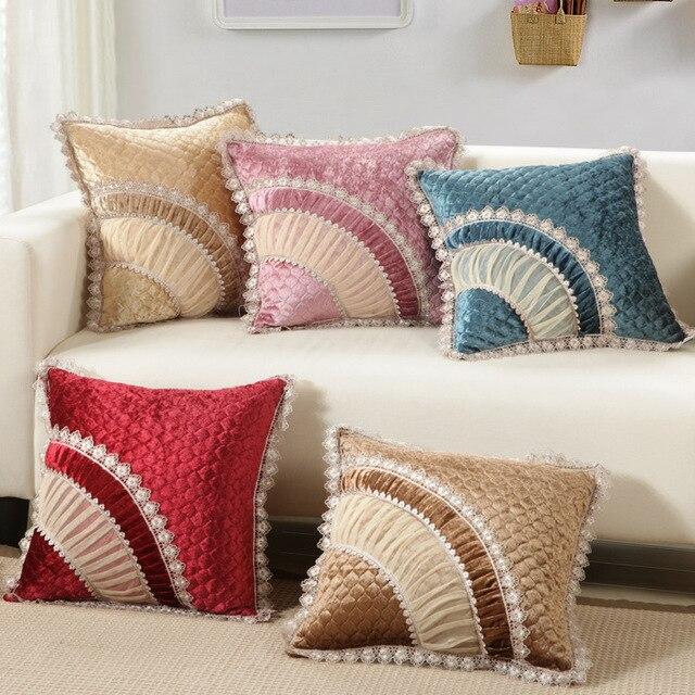 Classic Charpie 45x45cm/17.7x17.7u0027u0027 Decoration Sofa Cushion Colorful Throw  Pillow