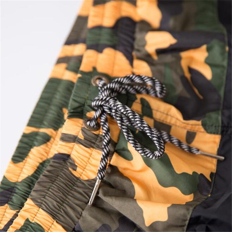Topdudes.com - Men's Camouflage Sexy Breathable Light Patchwork Short Beach Pants