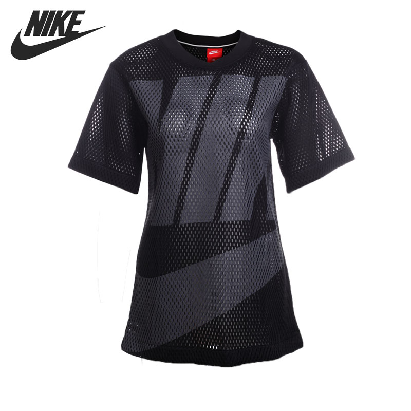 Original New Arrival 2017 NIKE NSW TOP MESH Women's  T-shirts short sleeve Sportswear original new arrival nike hypercool max fttd ss men s tight t shirts short sleeve sportswear