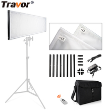 Travor LED Flexible Video Light Photography Lights 30*90 Bi-color Dimmable With Remote Control For Studio Lighting Photography wireless remote control dimmable bi color 2pcs 300w led fresnel spotlight as arri hmi par light video equipment