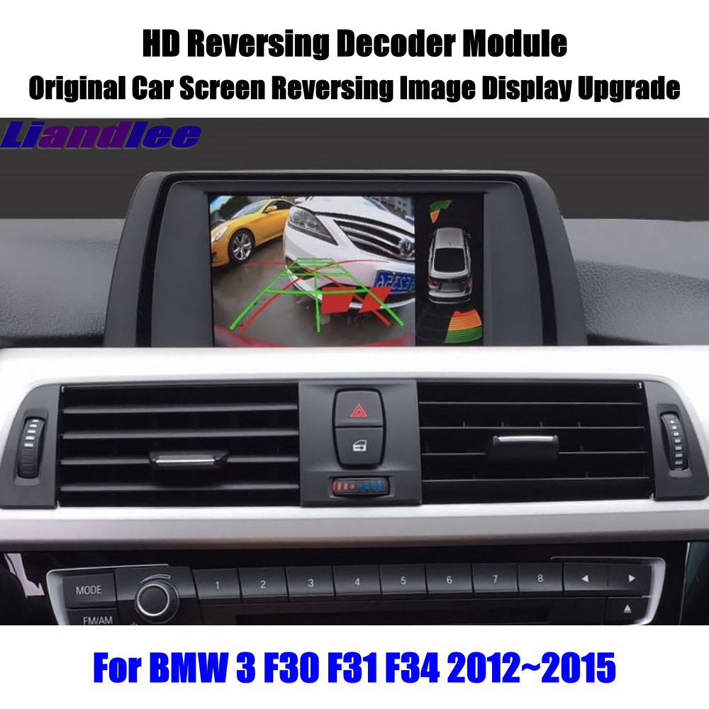 Liandlee Para BMW 3 F30 F31 F34 2012 ~ 2015Car Screen Display Atualização Atualização HD Módulo Decodificador de Estacionamento Traseiro Reverso imagem da câmera
