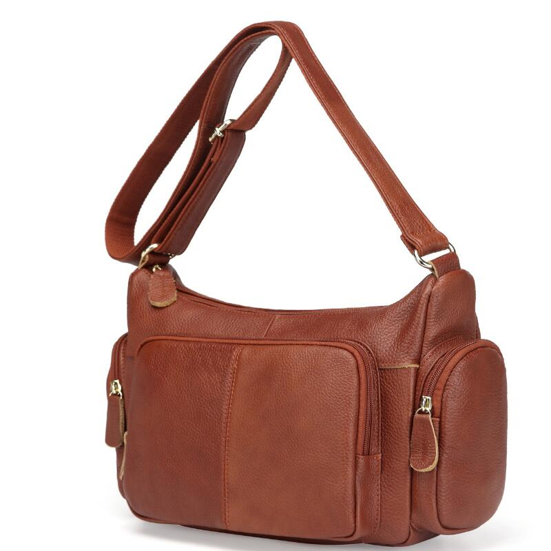 Big Genuine Leather Handbag Women Messenger Bags Vintage Shoulder Bag Large Female Cross-body bags Casual Soft Leather Women Bag 2018 new hot item high quality women handbag genuine leather bags women messenger bag vintage women bag shoulder cross body bags
