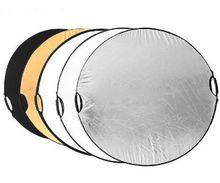 """Оптовая продажа 5 в 1 43 """"110 см ручной нескольких портативный складной фотографии студийный свет отражатель для студии диск"""