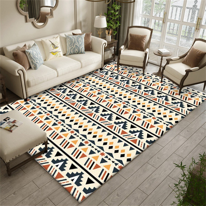 Bohemian Geometric Carpets For Living Room Sofa Coffee Table Area Rugs Home Decor Bedroom Study Floor Mat Kids Play Game Tapete