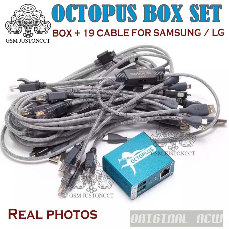 US $193 0 |Hot Selling Full activated Octopus Box + 19 in 1 Full Cable Set  for LG and for Samsung Unlock Flash & Repair-in Telecom Parts from