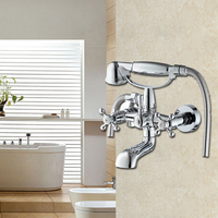 Wall Mounted Hand Held Shower Head Kit Chrome Shower Faucet Sets shower Faucet for bathroom with shower head SF1039