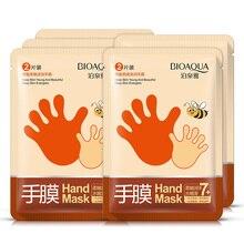 5 пар bioaqua медовая увлажняющая эссенция для отбеливания маска для рук увлажняющие перчатки против морщин разглаживающая маска для рук