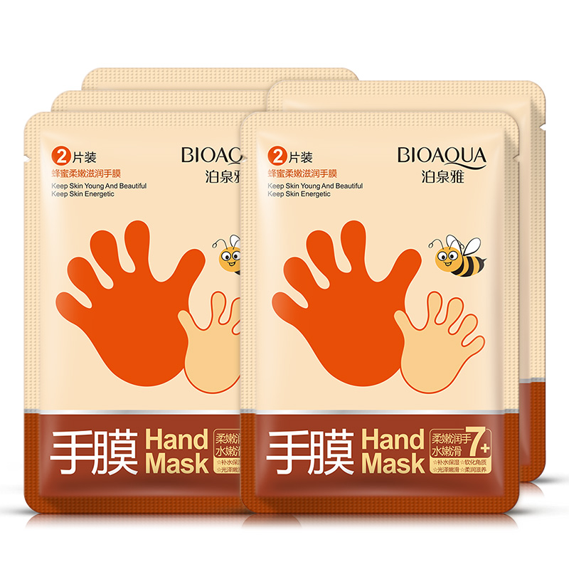 5 Pairs Bioaqua Honey Essence Whitening Moisturizing Hand Mask Moisturizing Gloves Anti Wrinkle Smoothing Hand Wax Mask