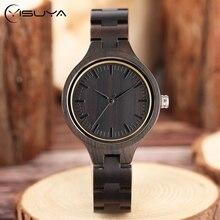 Full Bamboo Trä Armbandsur Kvinnor Vacker Kvinna Timmer Quartz Ladies Klockor Natur Trä Fold Clasp Bangle Clock