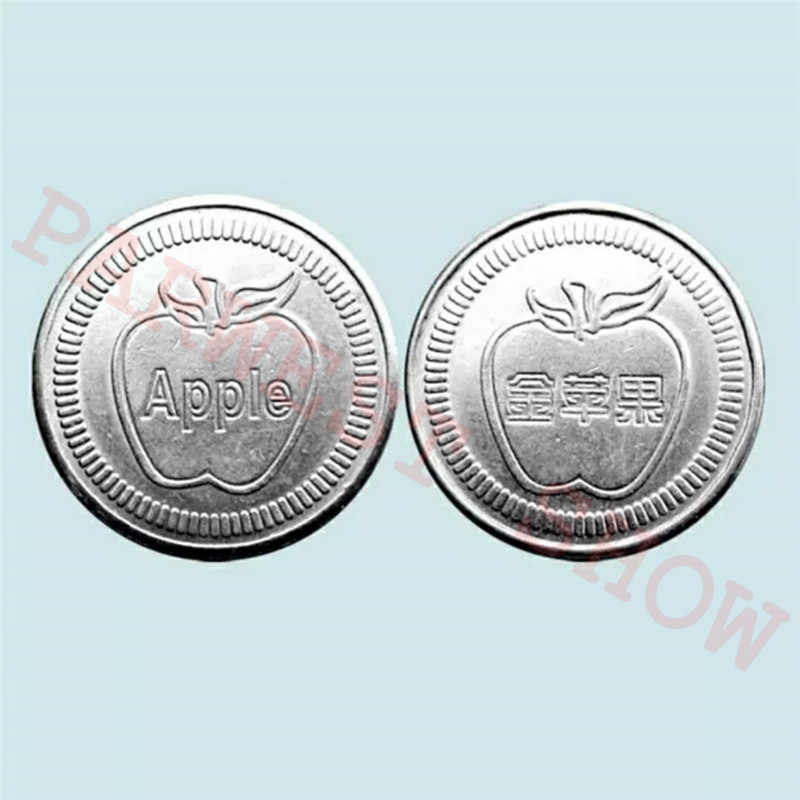 200pcs Game coin token arcade stainless steel Apple Logo token acceptor  Jamma token Russian game coins Can be customized design